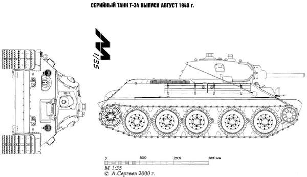 Чертеж Т34 1940 год