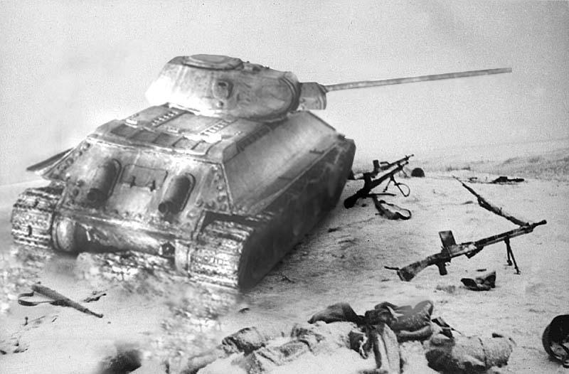 Фото танка истребителя T34-57