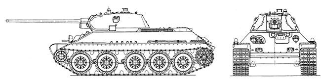 Схема T-34-57