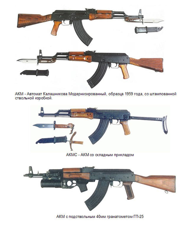 Модификации автомата Калашникова