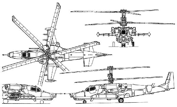Ка-52 чертеж