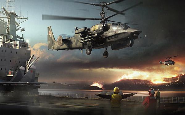Российский вертолет Ка-52