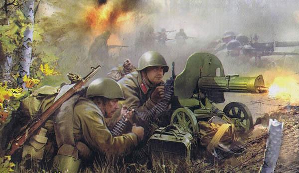 Рисунок пулемет Максим