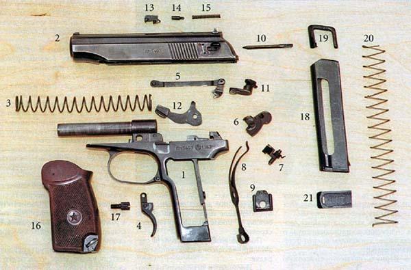Детали пистолета Макарова