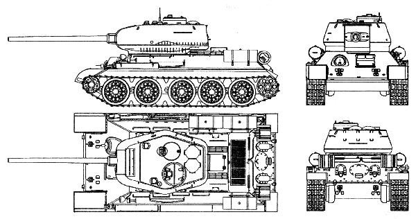 Средний танк Т 34 85 получил