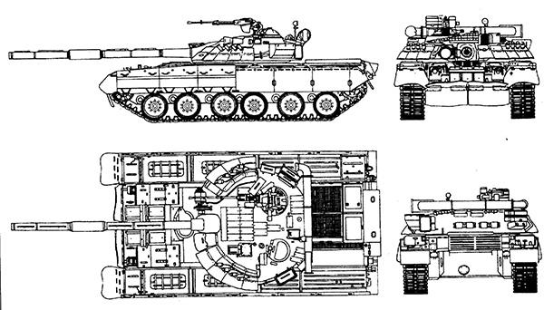 Чертеж Т-80