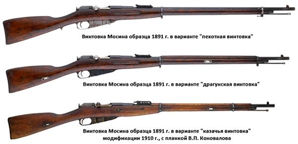 Модификации винтовок Мосина