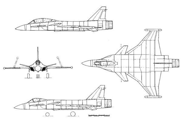 Истребитель СУ-37 схема