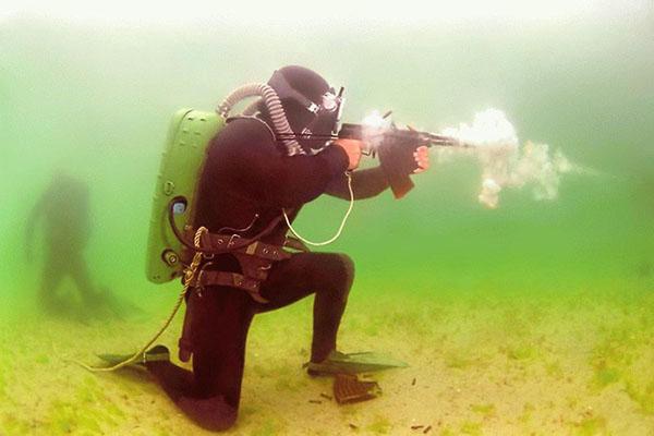 Автомат АДС под водой