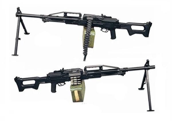 В конструкции пулемета