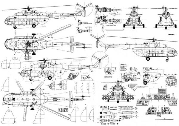 МИ-8 чертеж