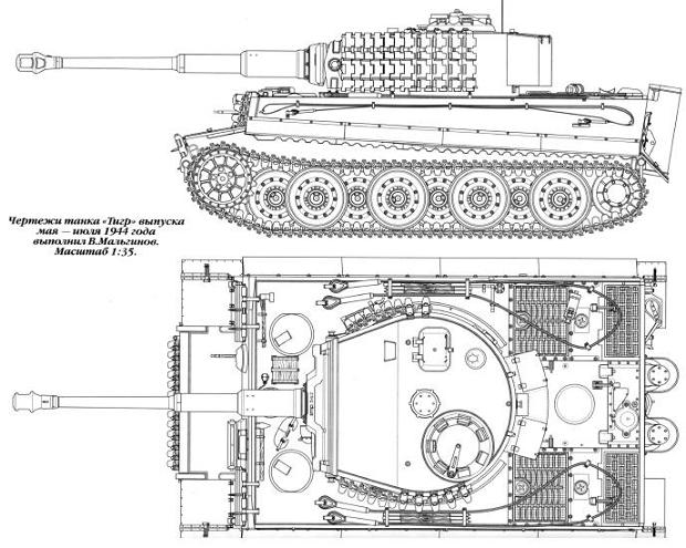 Конструкция танка Тигр
