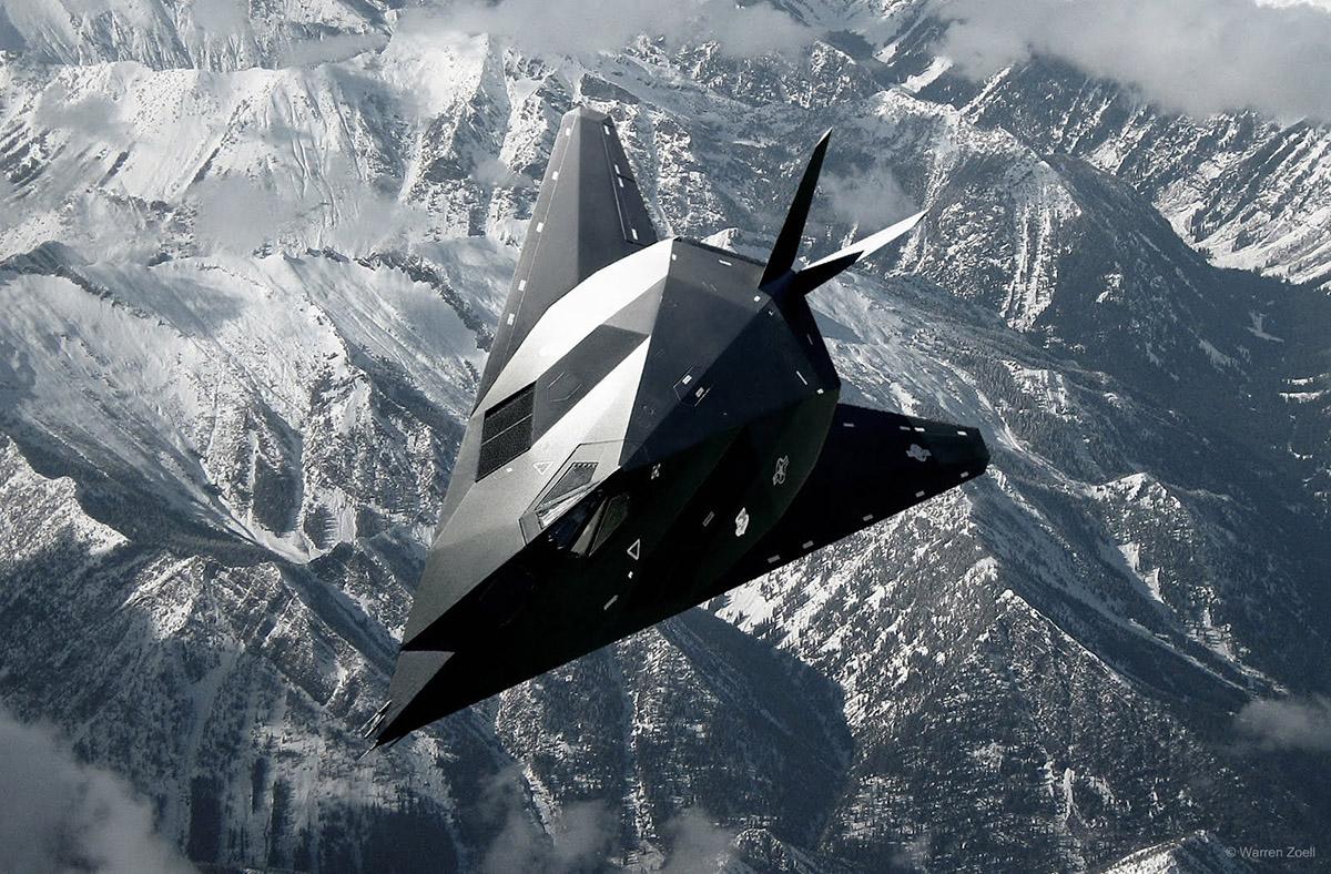 F 117 Nighthawk At Night Америка�...