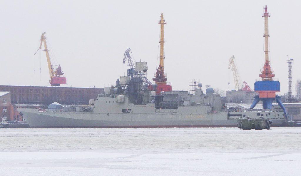 Главная Новости В Калининграде спущен на воду фрегат «Адмирал Бутаков»