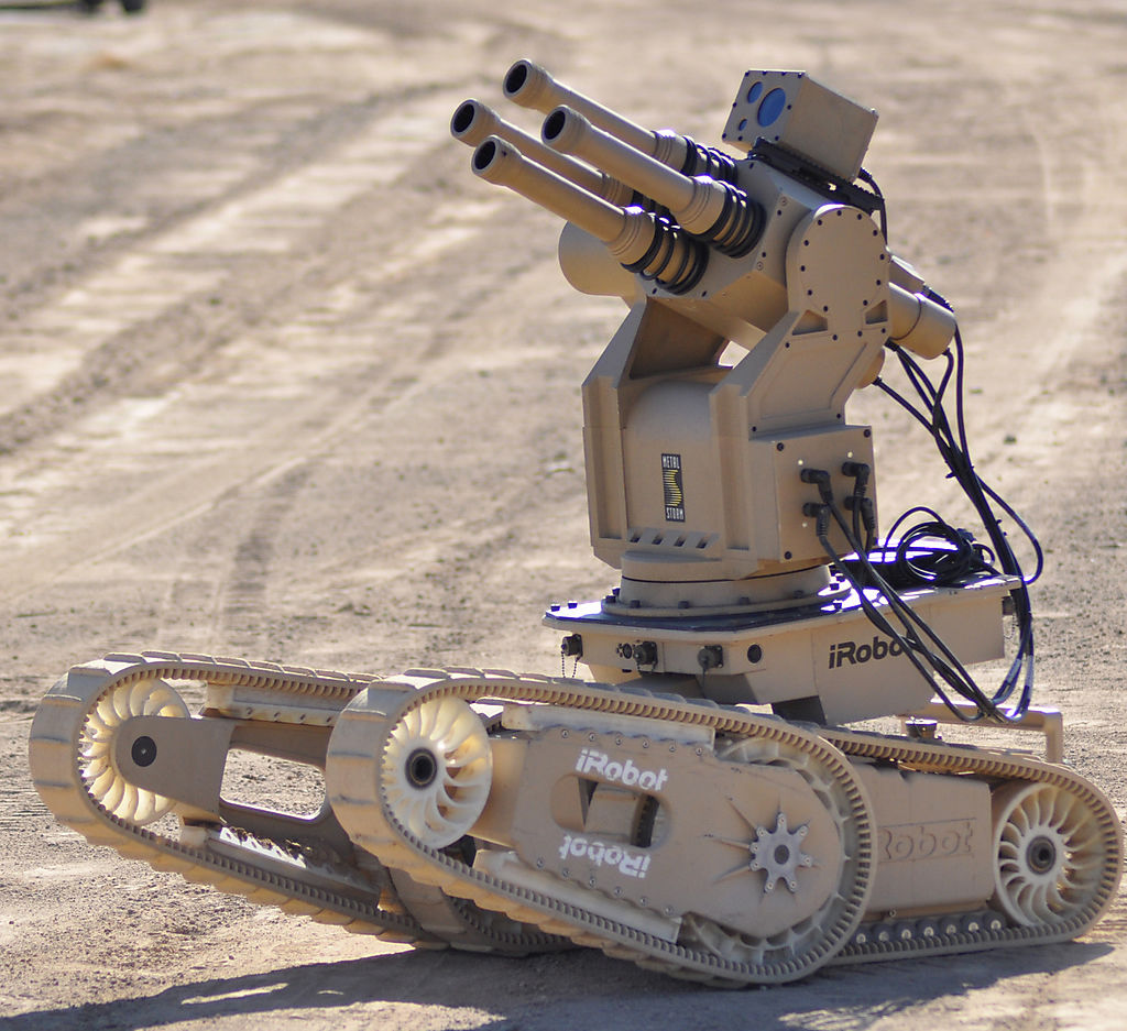 Робот с гранатомётом MetalStorm
