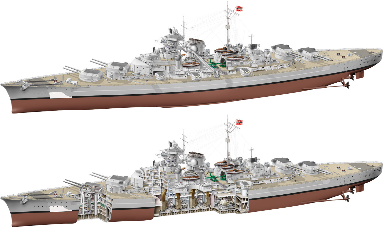 Технические характеристики линкора «БИСМАРК» - описание и ...