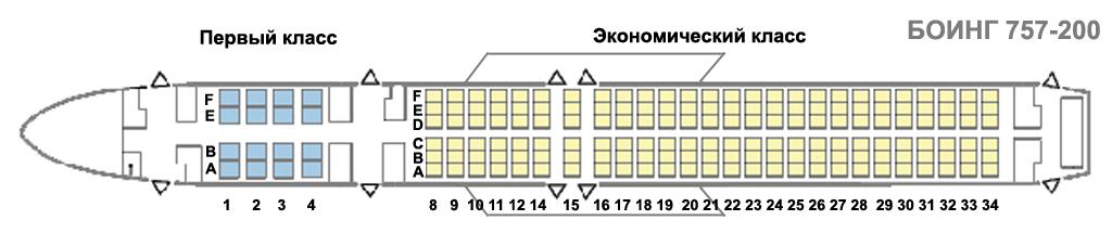 757-200er схема салона