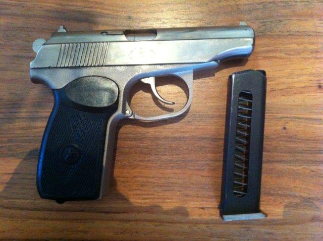 Пистолет ПМР с магазином