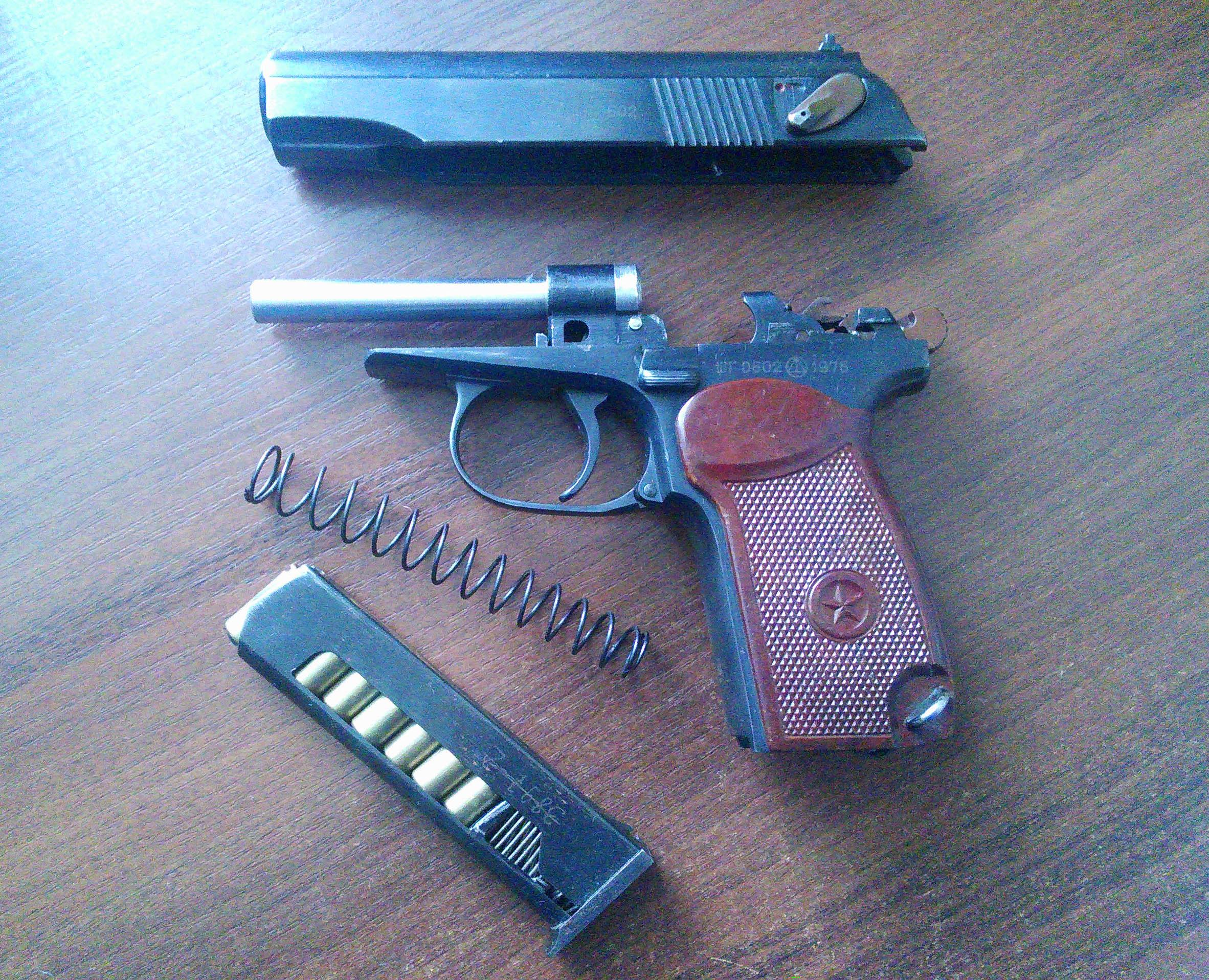 Пистолет Вий с возвратной пружиной