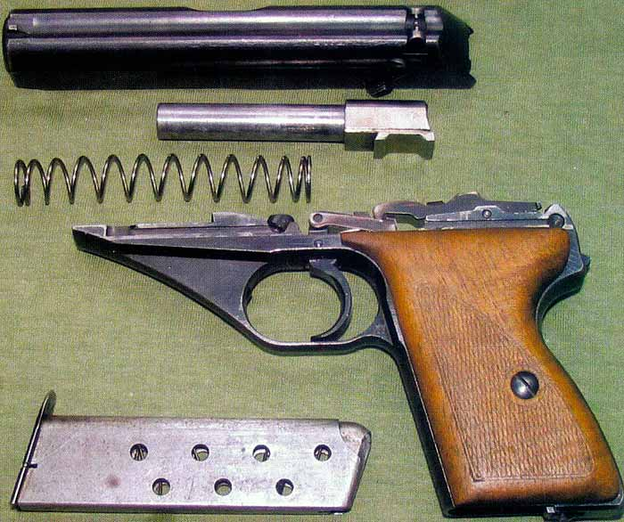 Разобранный Mauser HSc