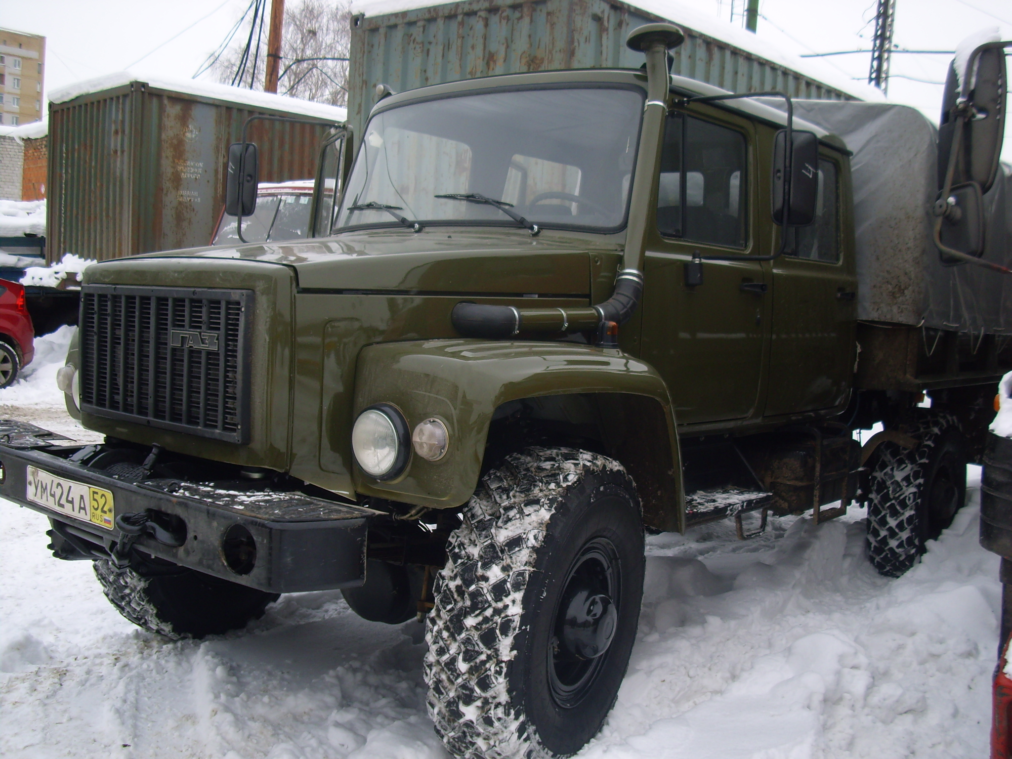 Газ-33081 с крытым кузовом