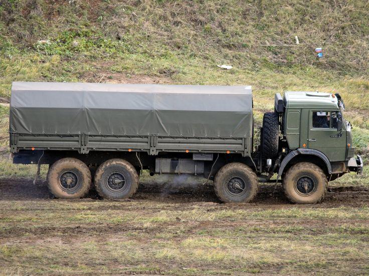 КамАЗ-6350 Мустанг с крытым кузовом