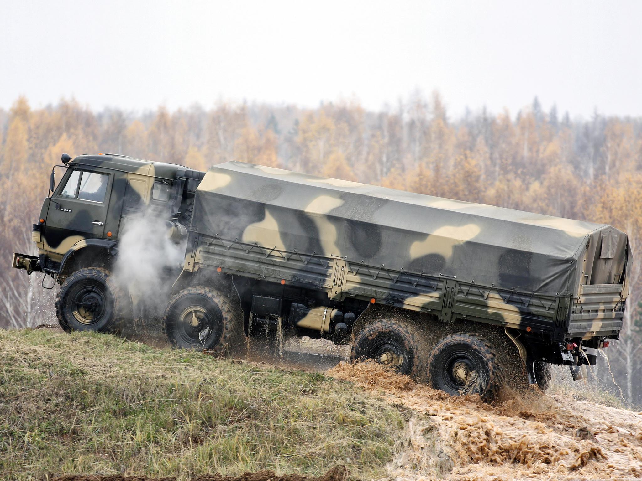 КамАЗ-6350 на бездорожье