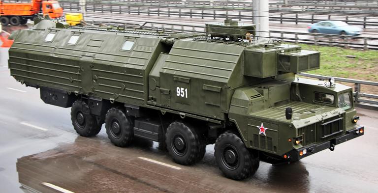 МАЗ-543 с передвижным модулем