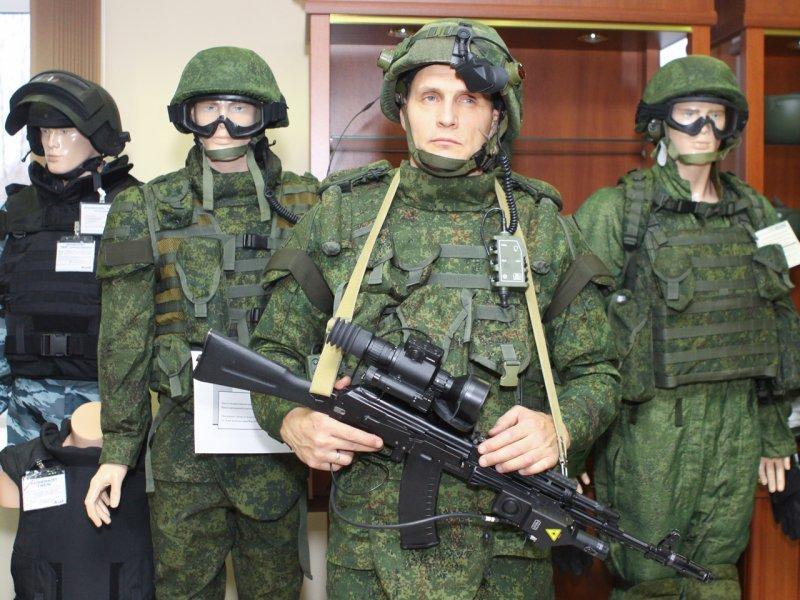 Российская военная форма с современным оборудованием