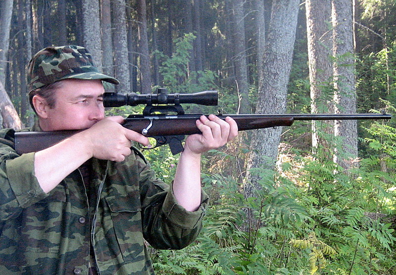 ТОЗ-78 в руках охотника