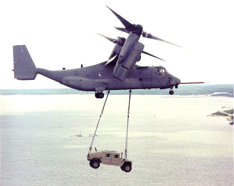 Bell V-22 Osprey: единственный в мире серийный конвертоплан