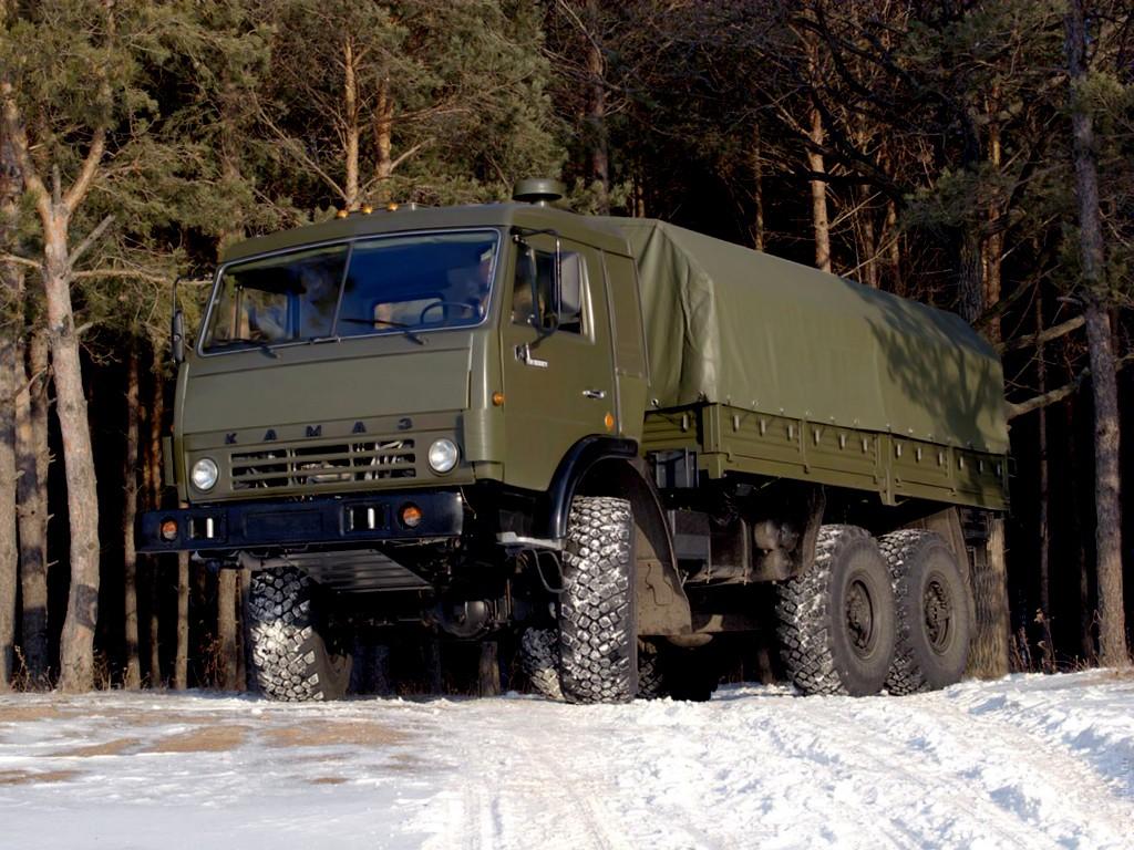 КамАЗ-43114 с крытым кузовом