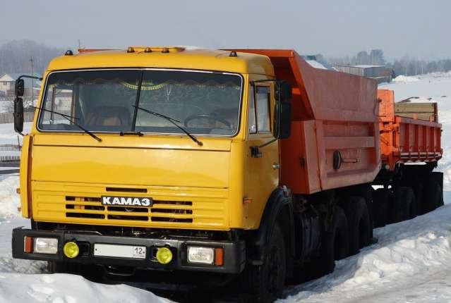 КамАЗ-55111 на снегу