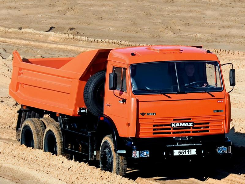 КамАЗ-55111 на грунте