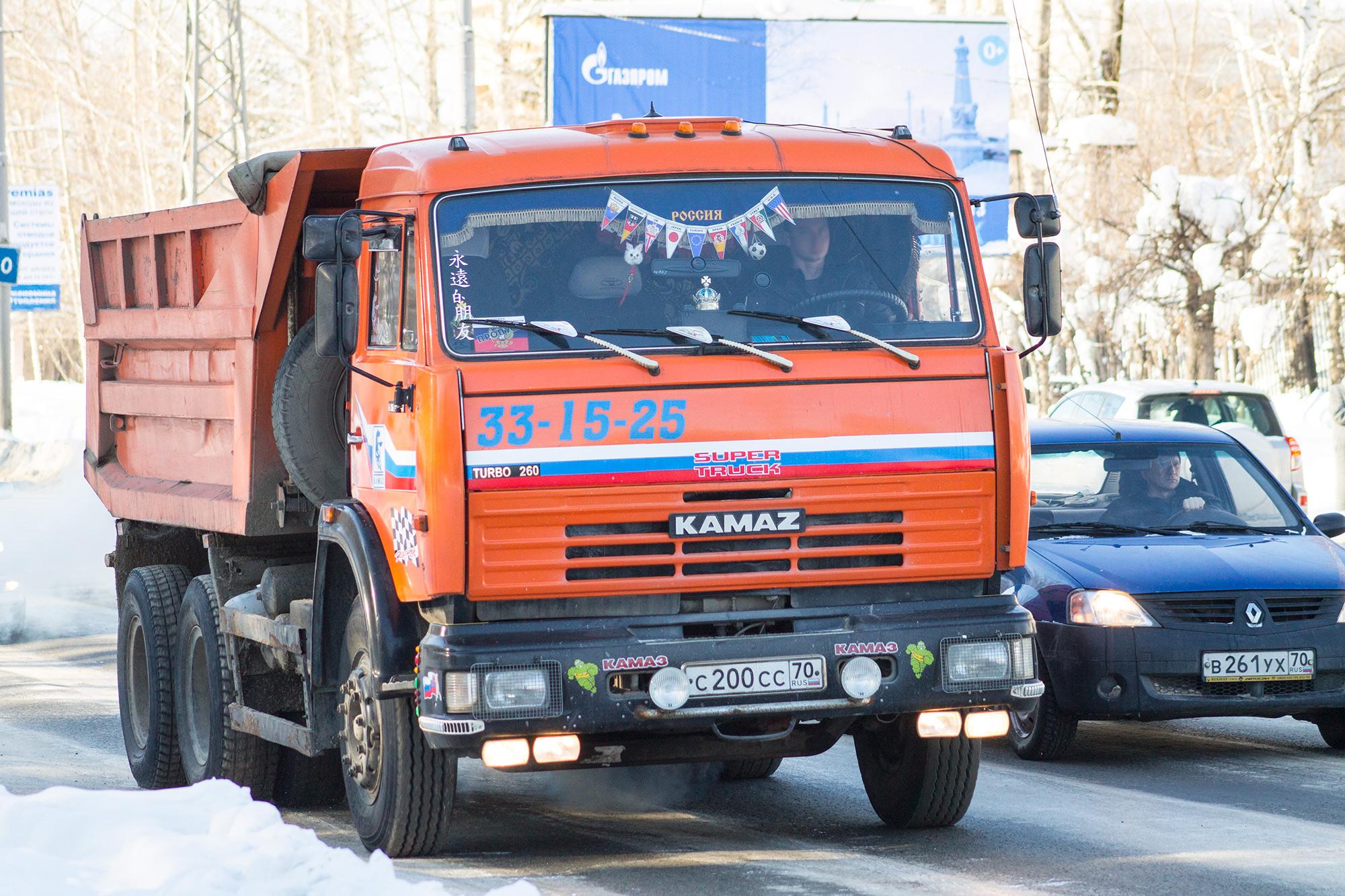 КамАЗ-55111 в городе