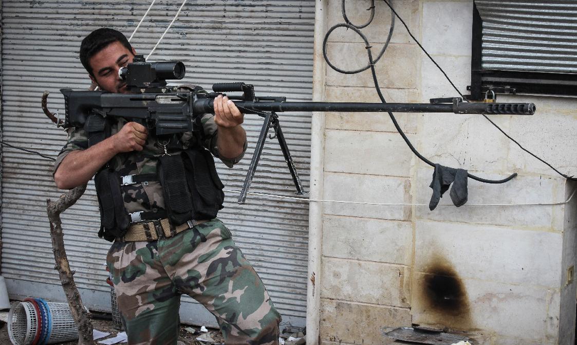 ОСВ-96 в руках у стрелка