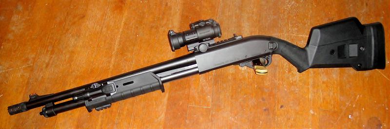 Remington 870 с прицелом