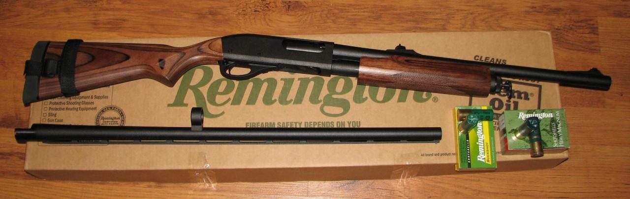 Remington 870 с запасным стволом