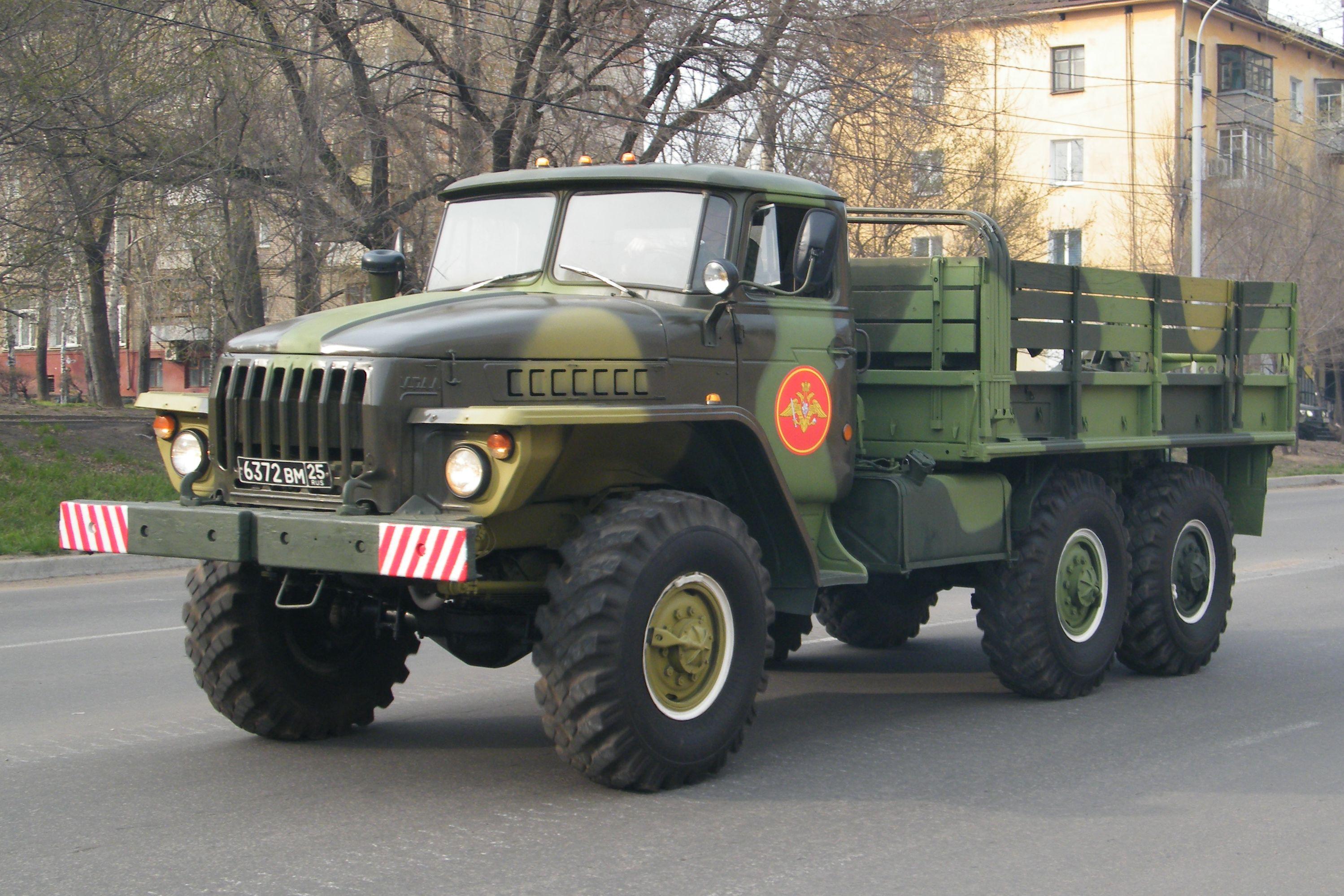 Урал-4320 с открытым кузовом
