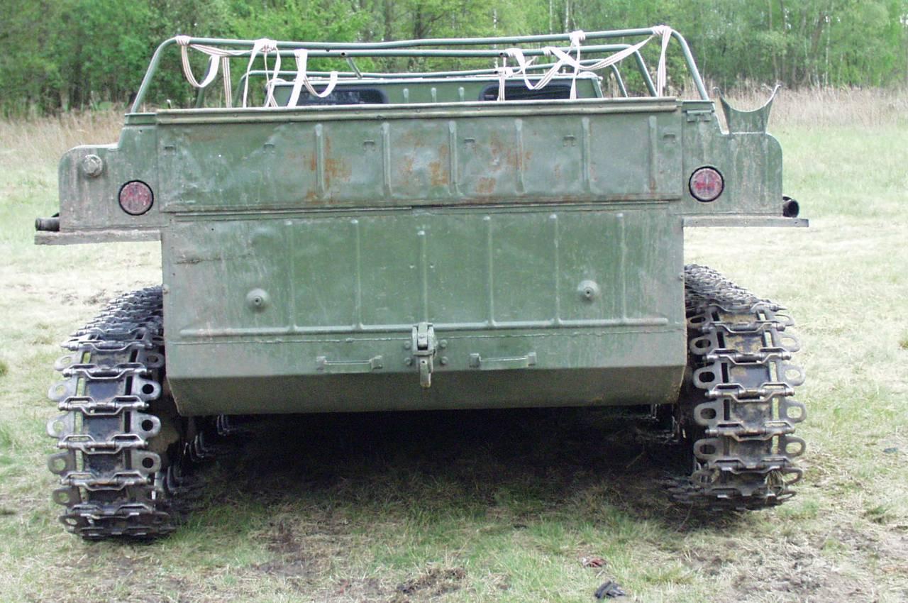 Вид сзади ГАЗ-71