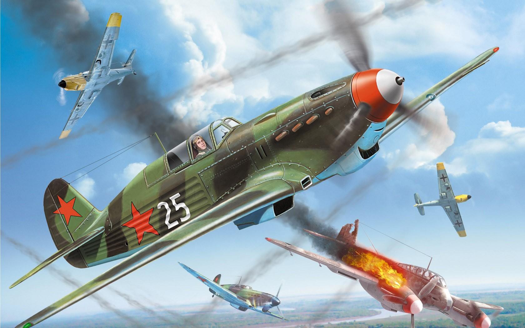 Обои ла-7, советский, одномоторный, одноместный, лавочкин. Авиация foto 15