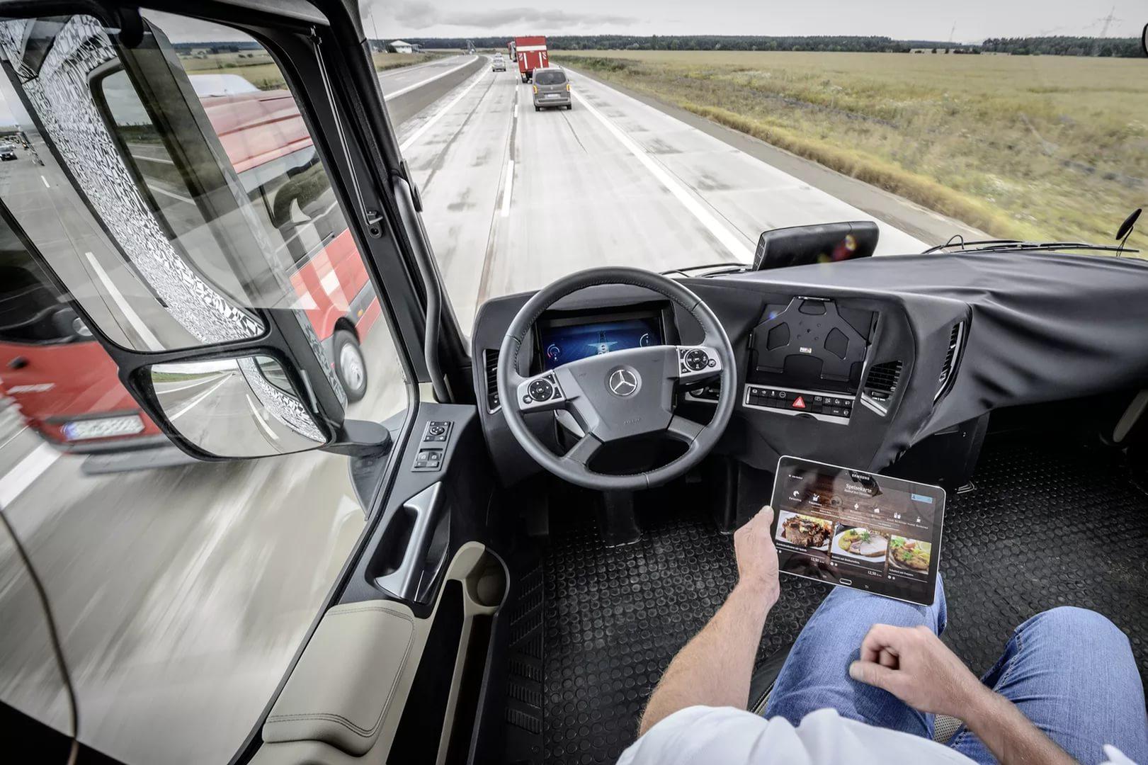 Беспилотный грузовик Daimler