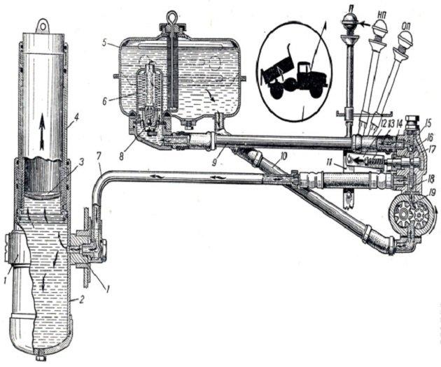 Гидравлика ЗиЛ-554
