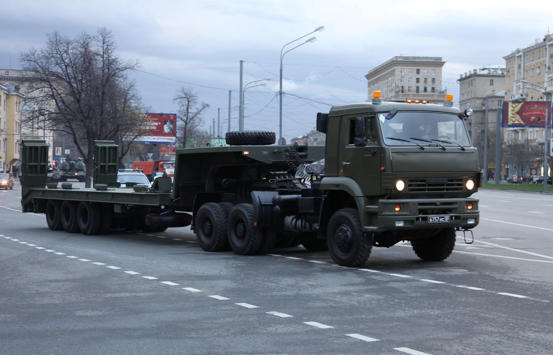 КамАЗ-65225 с военным прицепом