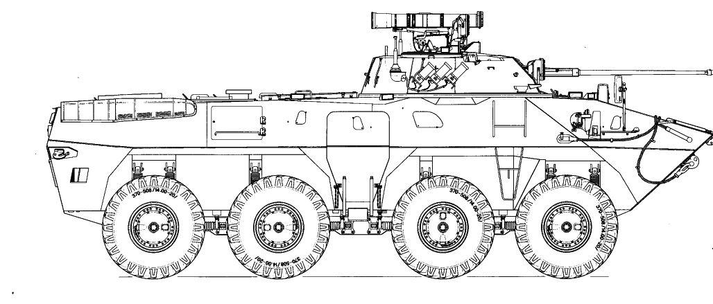 Компоновка БТР-90