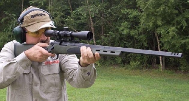 Remington 700 VTR в руках стрелка