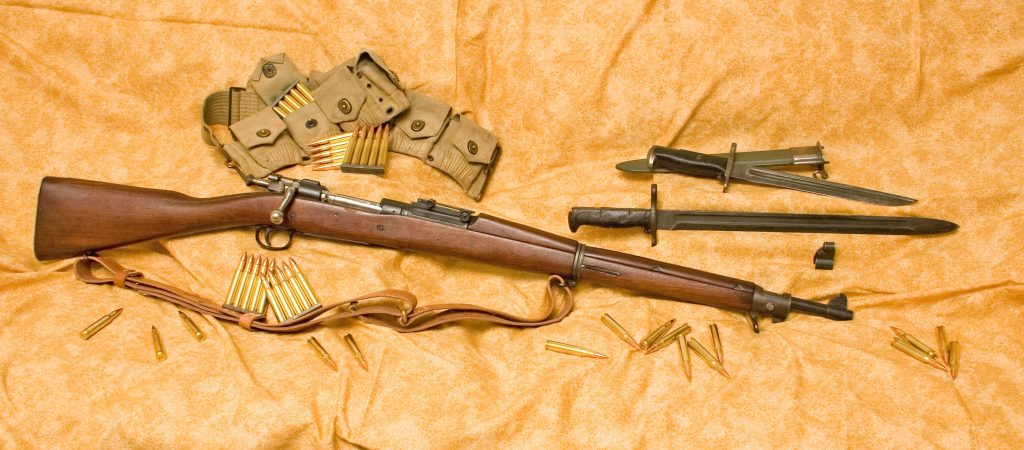 Springfield M1903 с чехлом для патронов