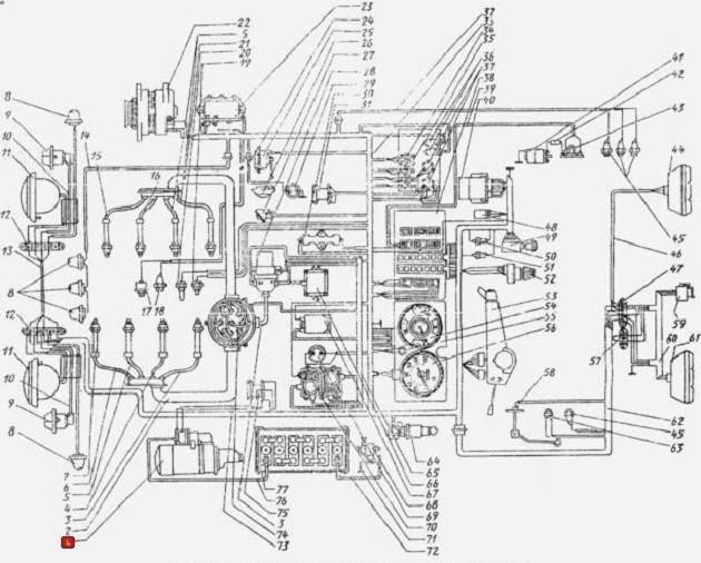 Схема тормозов ЗиЛ-433362