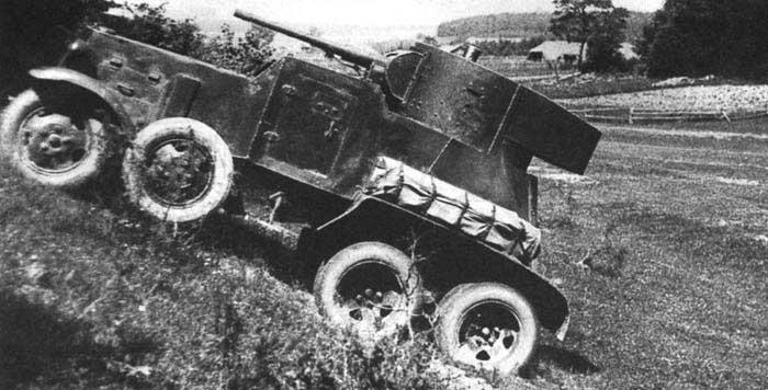БА-3 на фронте