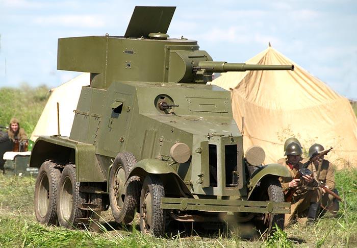 БА-3 на полевой военной выставке